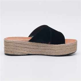 FLORİNE Black Slipper