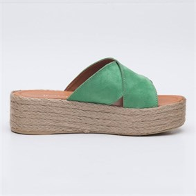FLORİNE Clear Green Slipper