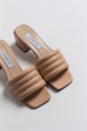 MARCIE Nude Puffy Slipper