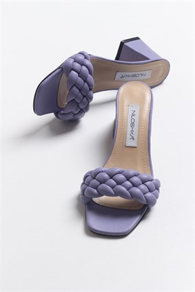 MILA Lilac Knitting Slipper