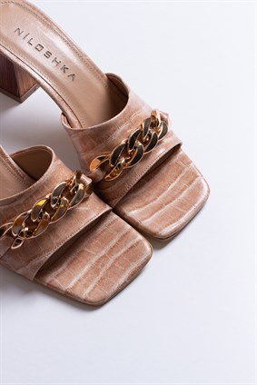NICHOLE Nude Chained Slipper